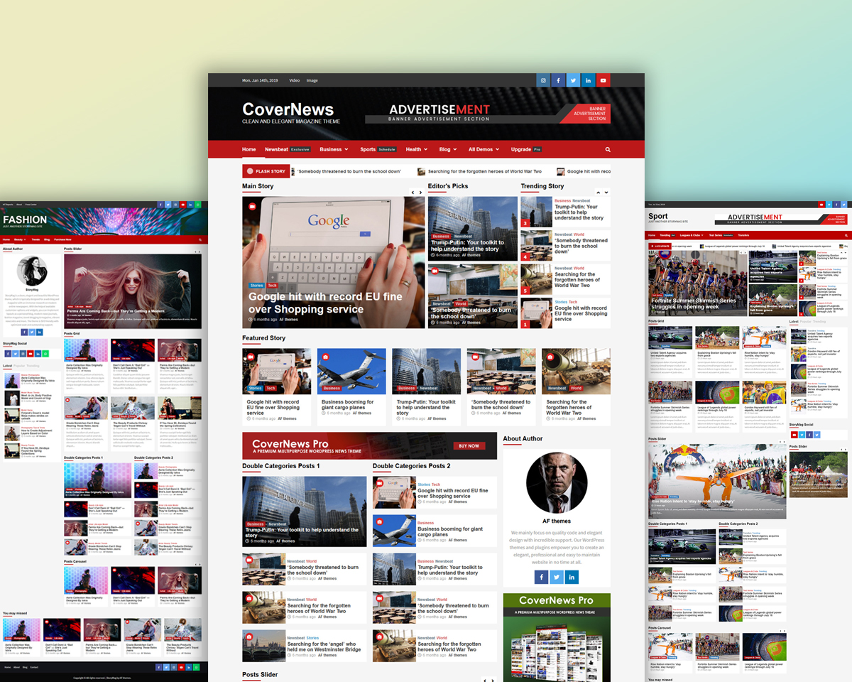 Free WordPress Theme CoverNews Review