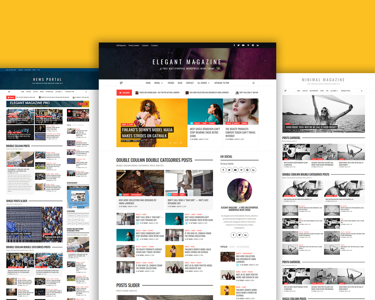 Elegant Magazine Free WordPress Theme For 2019
