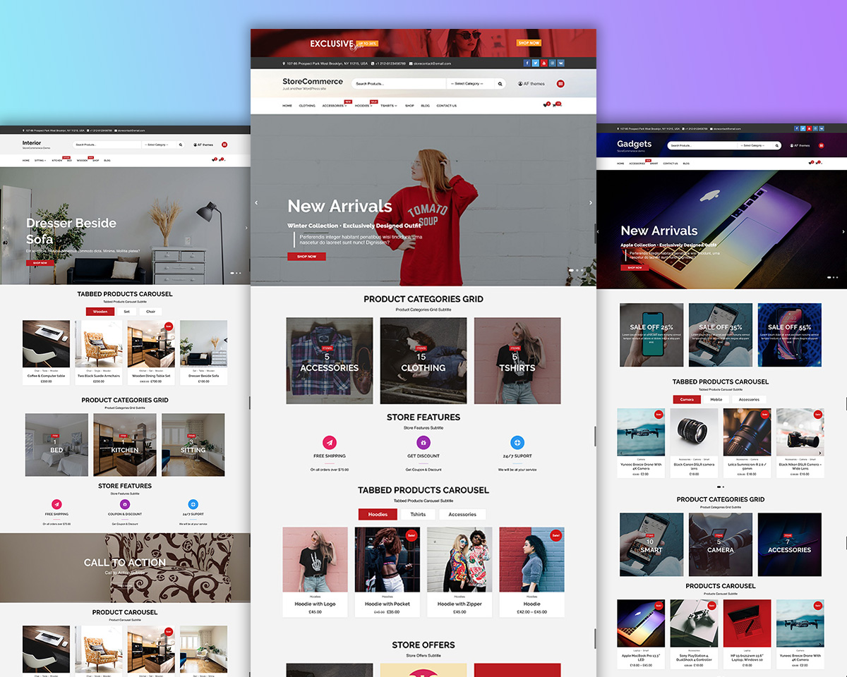 Minimal and Responsive Free WooCommerce Theme- StoreCommerce