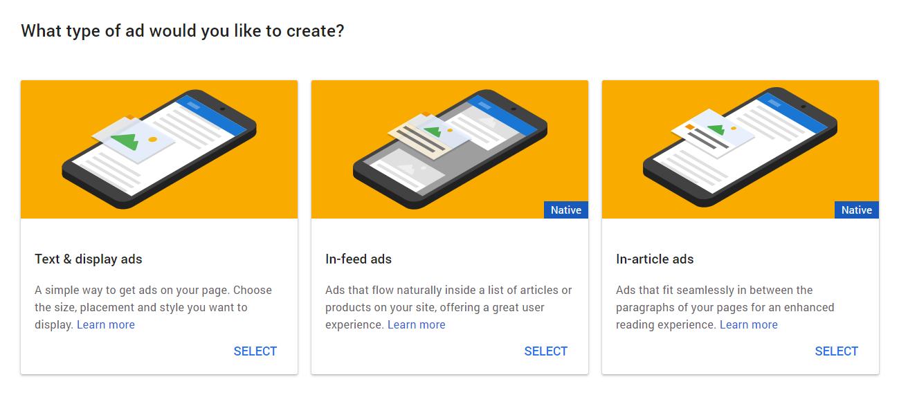 Google AdSense WordPress Ads Type