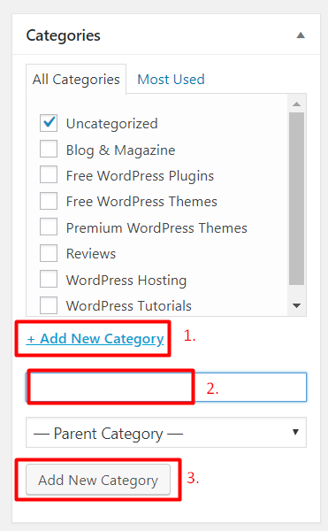 WordPress Categories