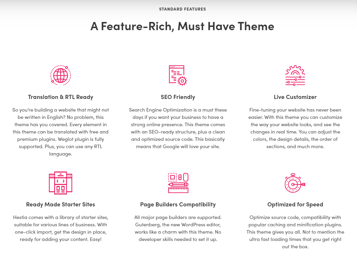 Hestia WordPress themes