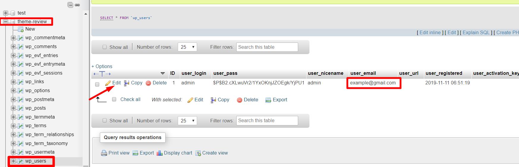change WordPress admin email