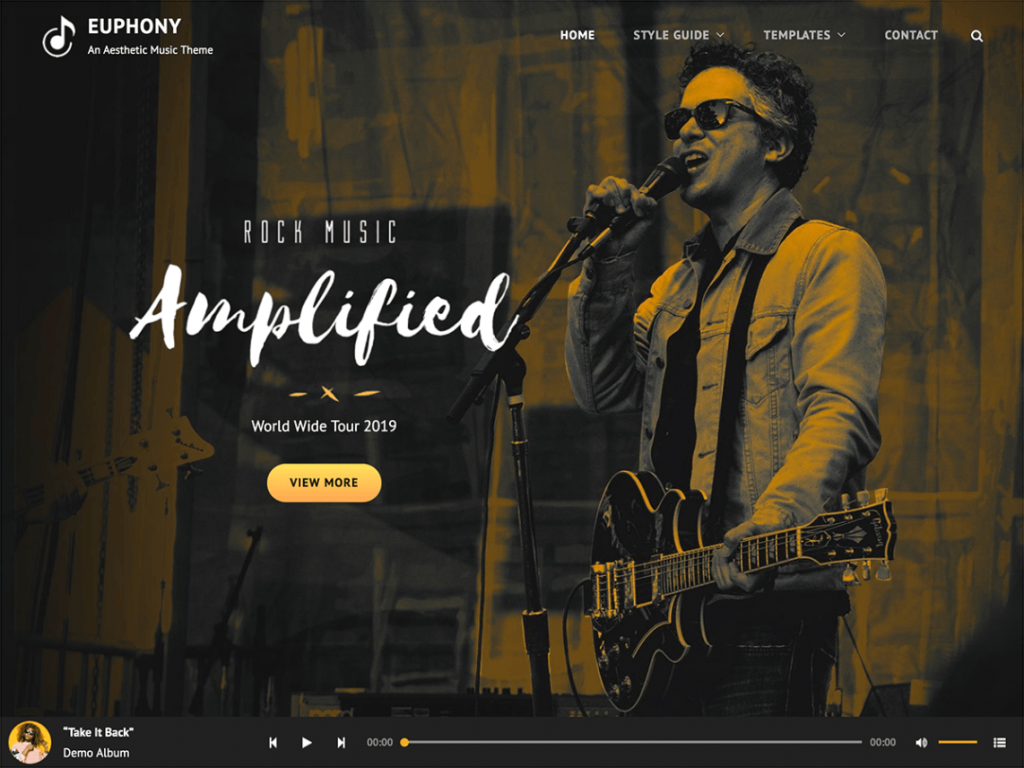 Euphony, a Perfect and Best WordPress Music Theme for 2020