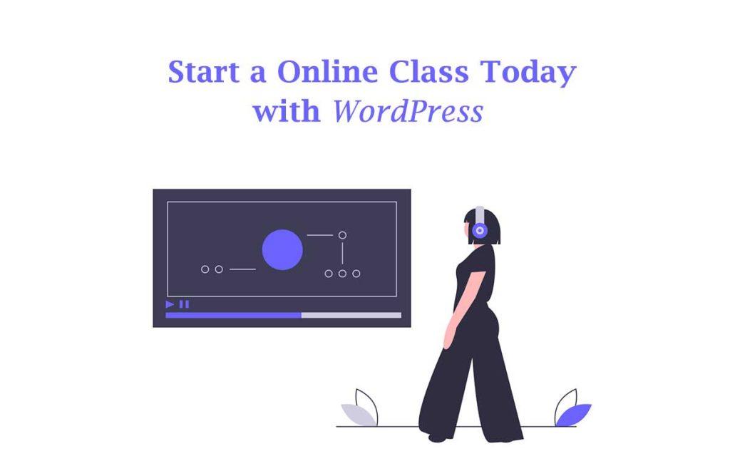 how to start a online class