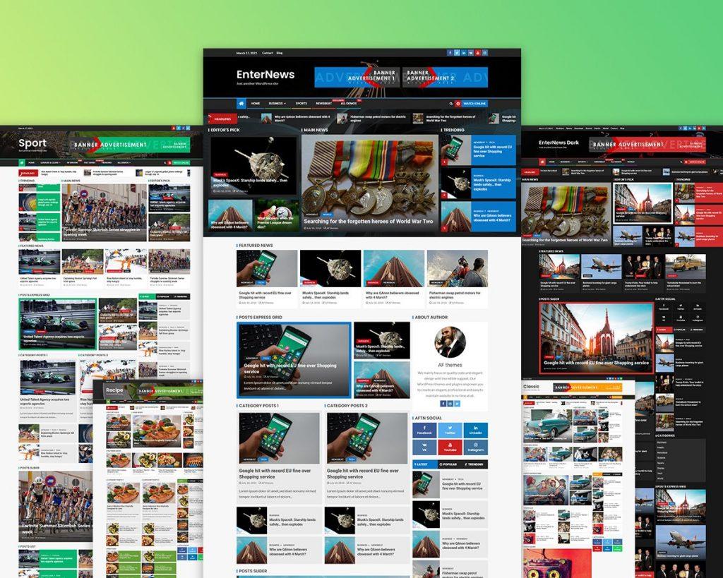 EnterNews theme preview