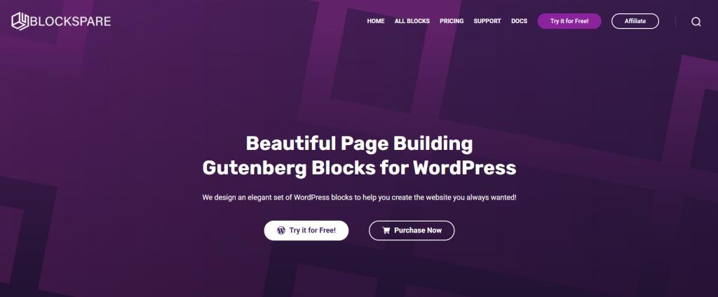 Blockspare WordPress plugins for blog