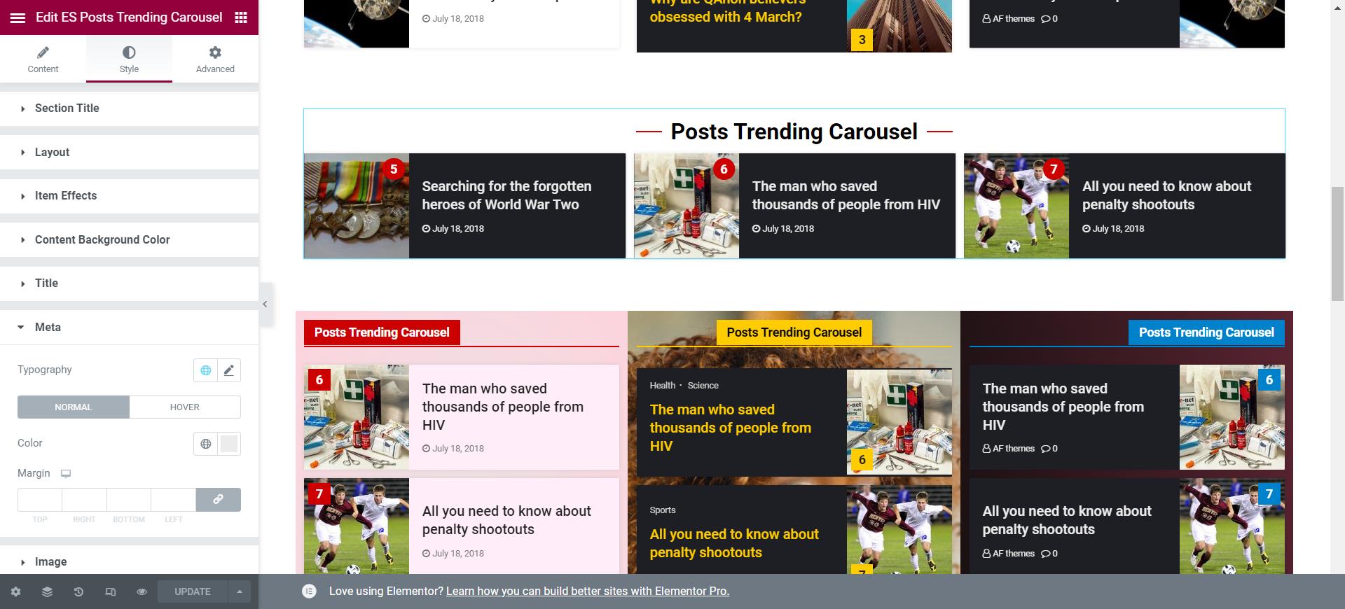 Trending Post Carousel