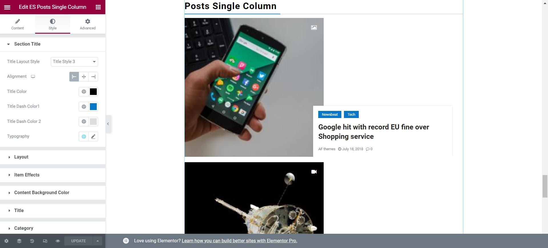 Post Single Column