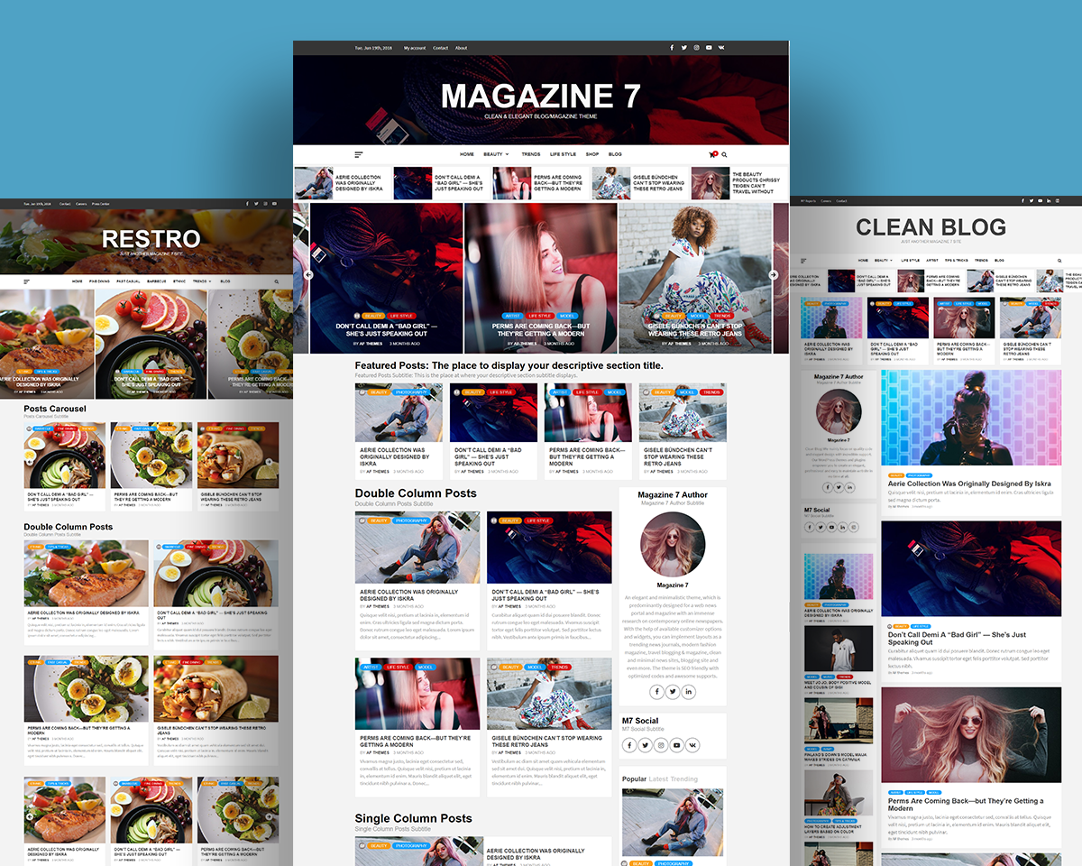Magazine 7 - Clean, Elegant and Beautiful Free WordPress Multipurpose Blog/Magazine Theme