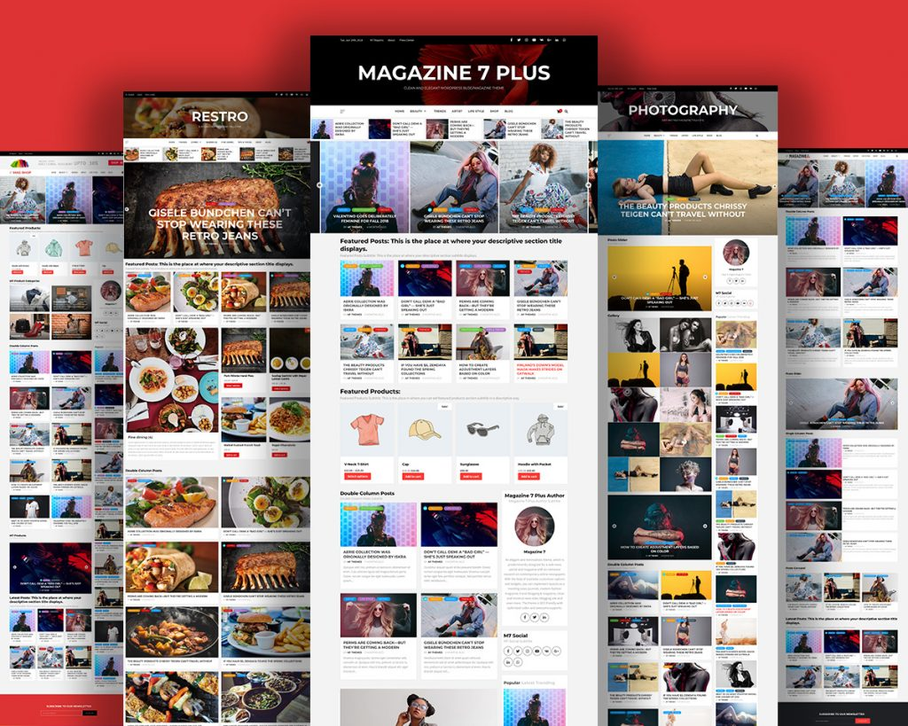 Magazine 7 Plus - Clean, Elegant and Beautiful Premium WordPress Multipurpose Blog/Magazine Theme